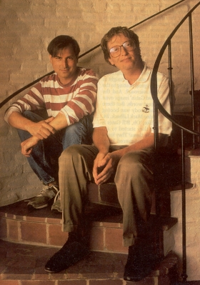 Steve Jobs og Bill Gates