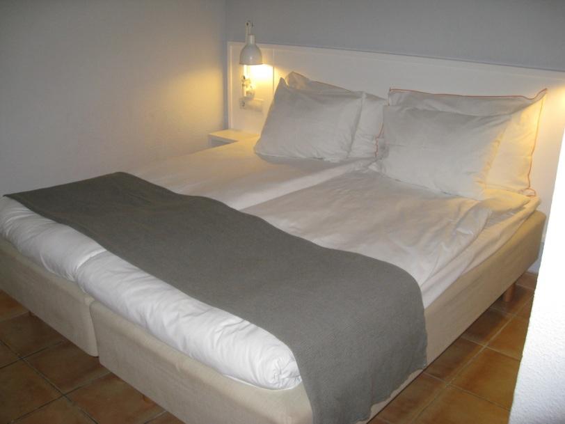 En royal seng. Den var riktig god å ligge i og ikke så steinhard som spanske senger vanligvis er.