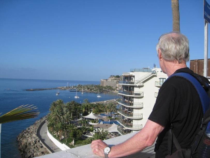 Utsikt mot stedets nyeste og flotteste hotell, Radisson Blu.