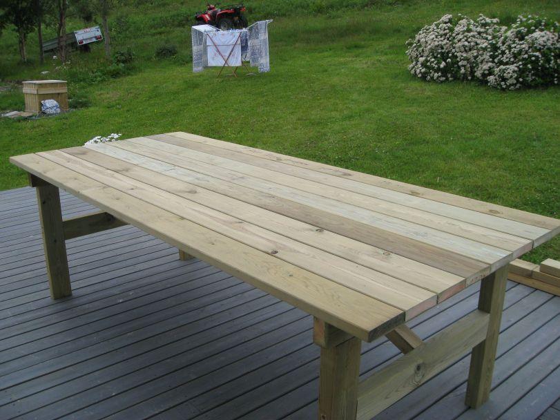 Solid bord med plass til mange.