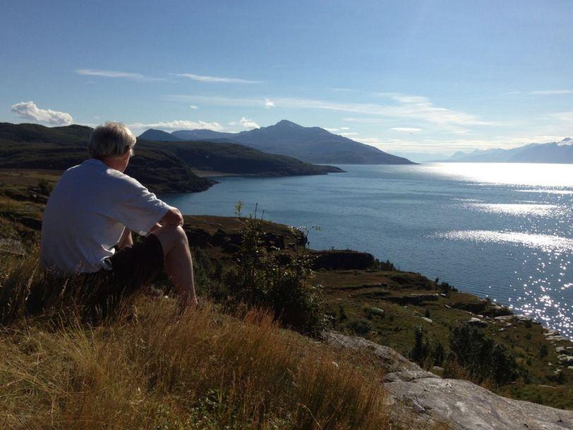 Nydelig utsikt over Lyngenfjorden