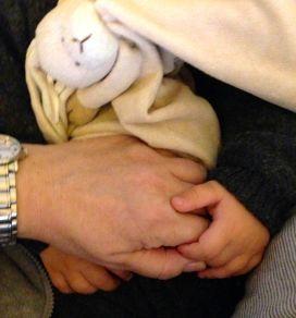 Lita hand stor hand