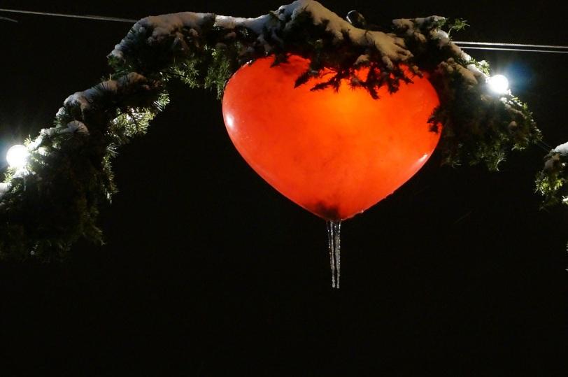 Hjerte med istapp