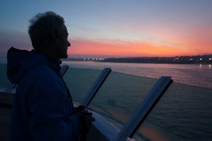 Fram dag 1 Vakker solnedgang