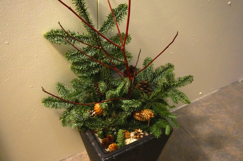 Julepynt i gangen